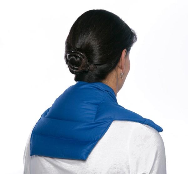 Nackenkissen Komfort 5-Kammer, Bio-Stoff enzianblau