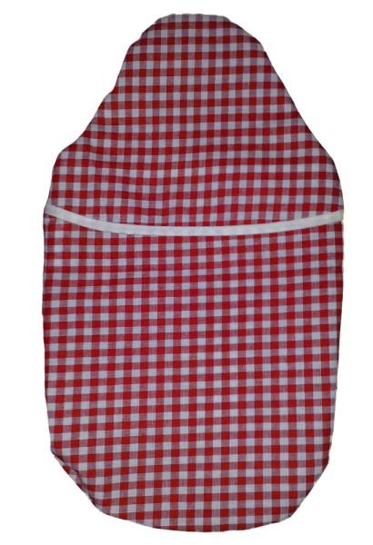 Wärmflaschenbezug Kompakt rot-weiß