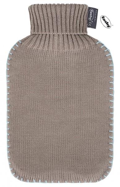 fashy Wärmflasche mit Strickbezug braun