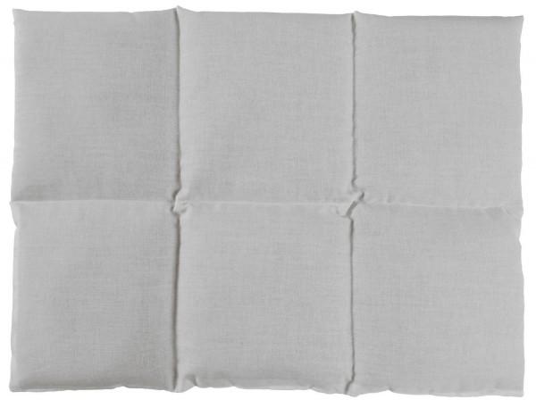 Körnerkissen 6-Kammer 40x30cm, weiß