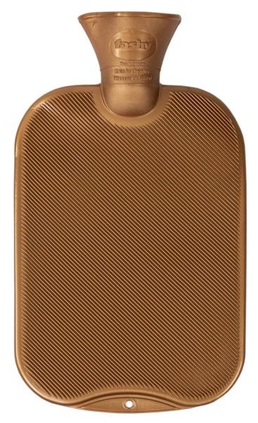 Wärmflasche Halblamelle goldbraun 05