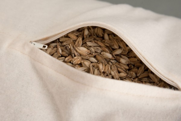 Bio Dinkelspelz Nackenrolle und Bio Stoff