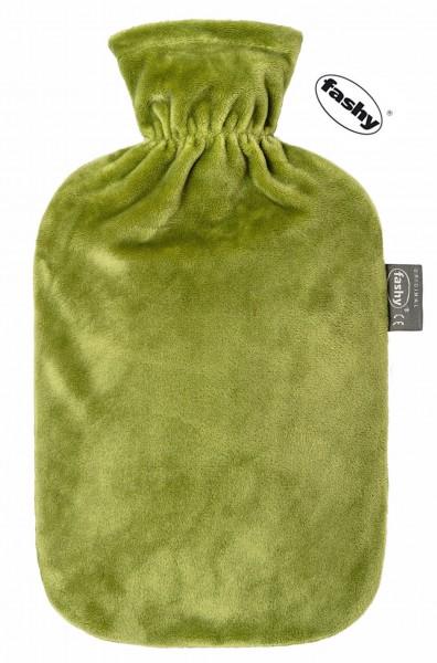 Wärmflasche mit Flauschbezug grün 2.0l 6712