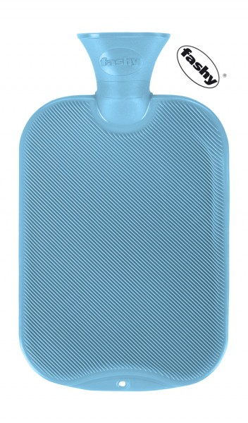 fashy Wärmflasche halblamelle hellblau 2l