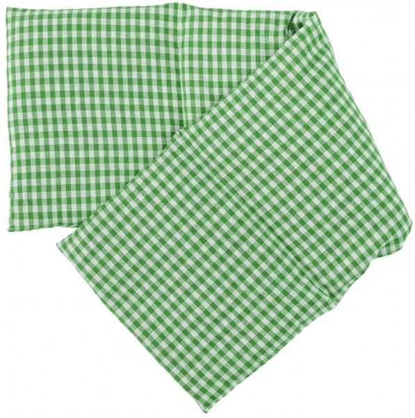 Kirschkernkissen 20x60cm grün-weiß