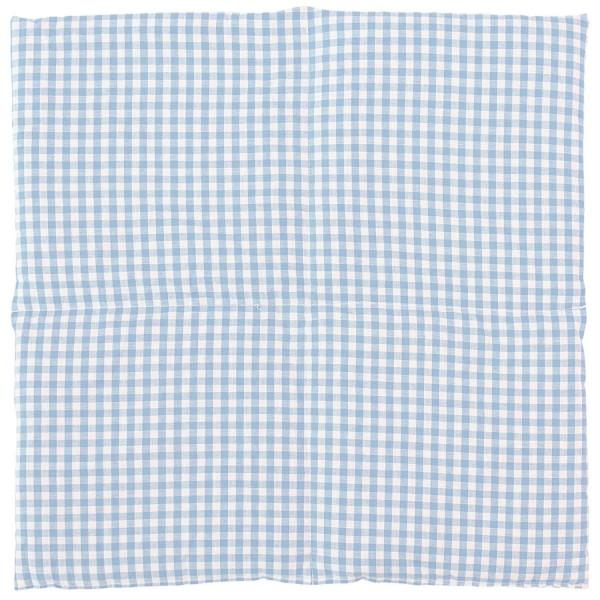 Johanniskernkissen hellblau-weiß