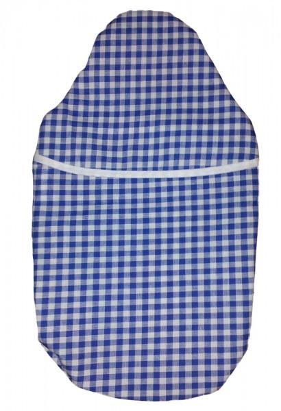 Wärmflaschenbezug Kompakt blau-weiß