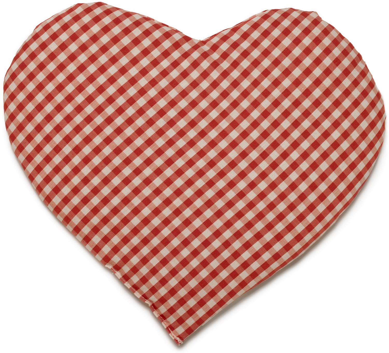 Kirschkern Herz bio rot-weiß