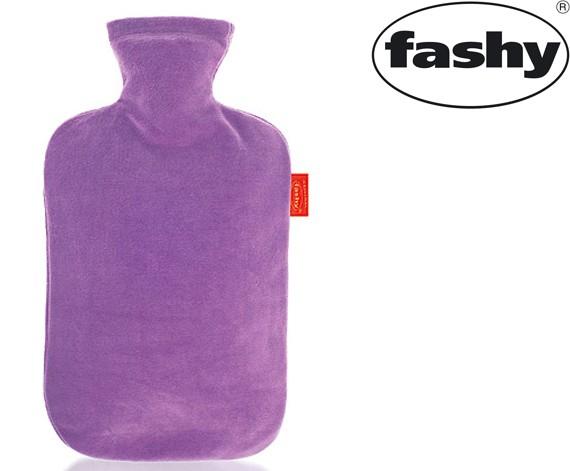 Wärmflasche mit Nicki-Velour Bezug flieder 2.0l 6712
