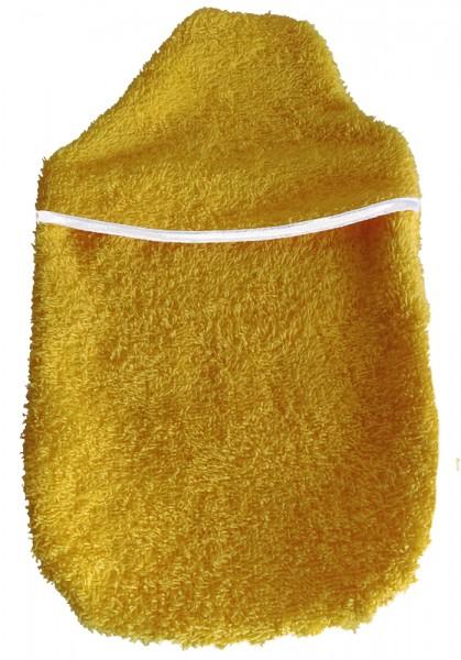 Wärmflaschenbezug Kompakt Frottee gelb