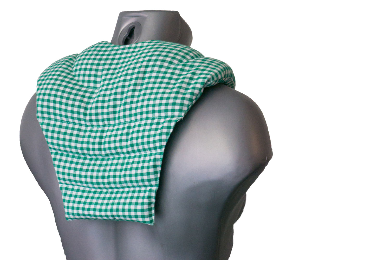 Wärmekissen mit Rückenteil grün-weiß