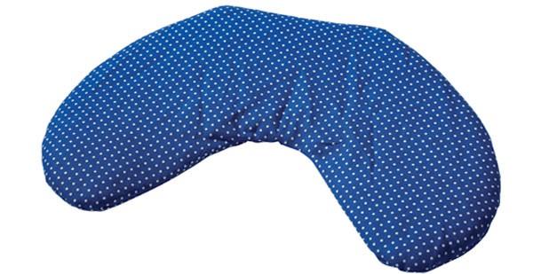 Körner-Nackenhörnchen 25x30 Pünktchen blau