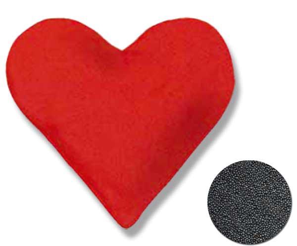 Rapssamenkissen Herz 26x27cm groß
