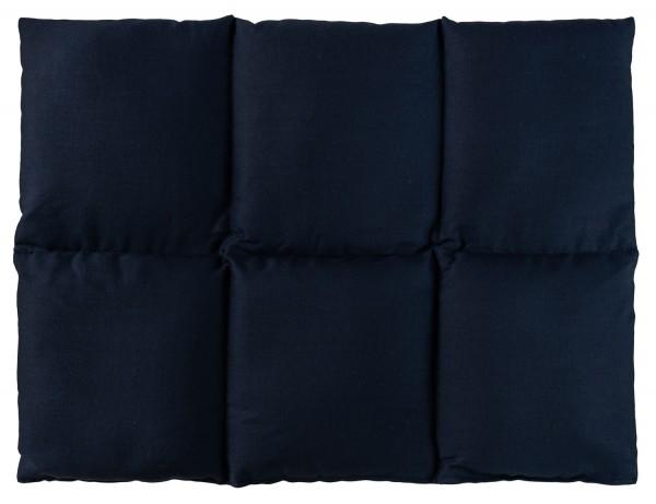 Traubenkernkissen blau
