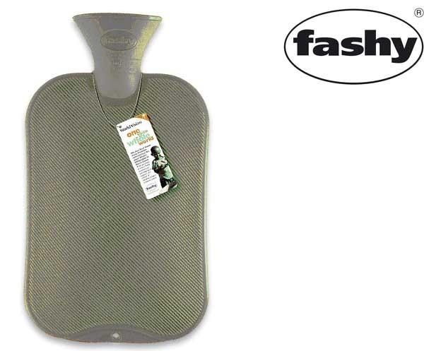 Wärmflasche 2.0l Halblamelle silber-grau 6442