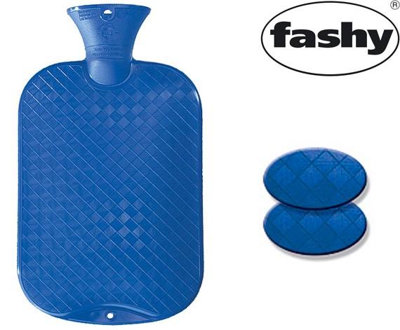 Wärmflasche 2.0l glatte Ausführung enzianblau 6420