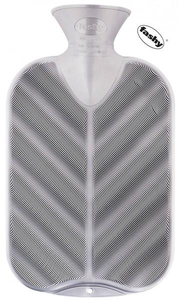 fashy Wärmflasche 2l 3D Wellen Oberfläche