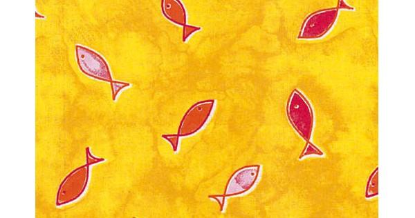 -> Kissenbezug 57x28cm Fische gelb (49)