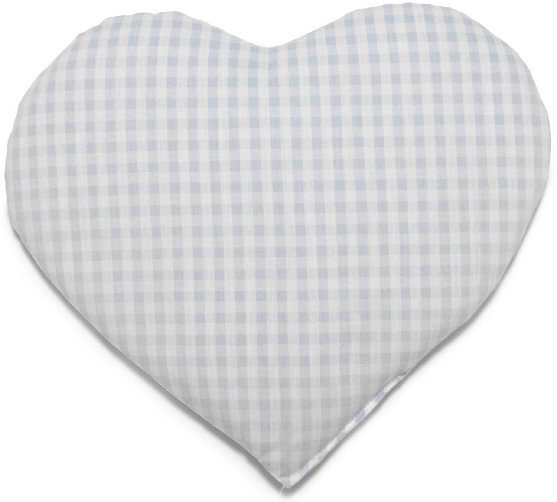 Kirschkern Herz hellblau-weiß