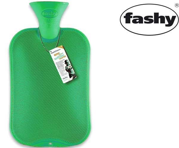 Wärmflasche 2.0l Halblamelle grün 6442