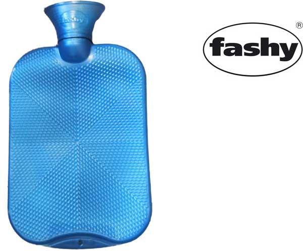Wärmflasche 2.0l Halblamelle 6445 aquablau