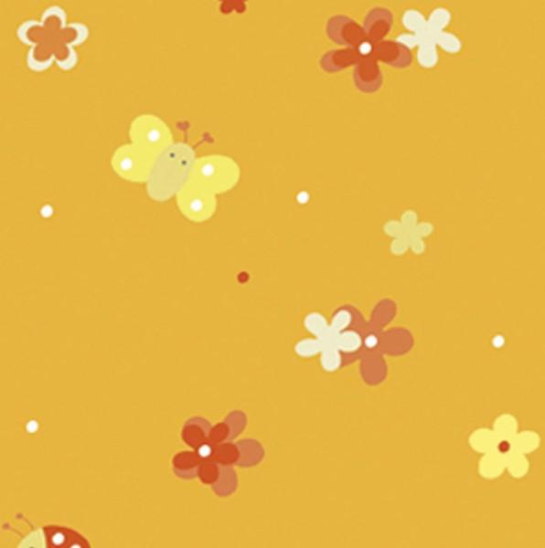 -> Stillkissenbezug 190x38 -86- Blumenwiese orange