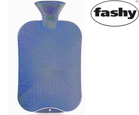 Wärmflasche 2.0l Halblamelle 6445 silberblau
