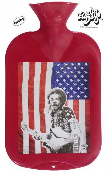 fashy Wärmflasche 2l Radio Days Hendrix rot