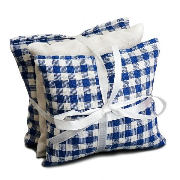 Duftkissen Set blau-weiß