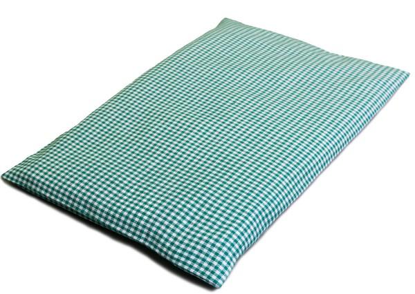 Körnerkissen 30x20cm | Bio-Stoff grün-weiß