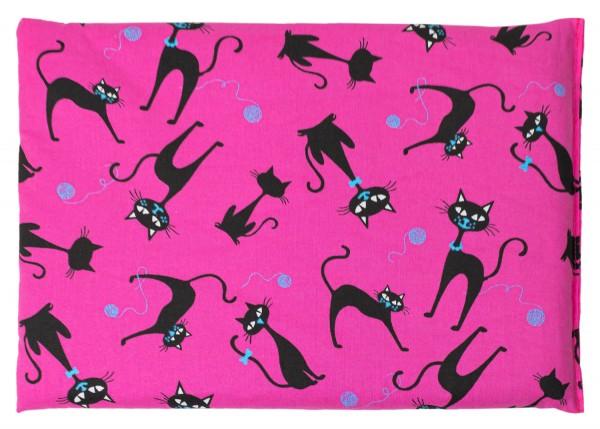 Kirschkernkissen Katze-pink