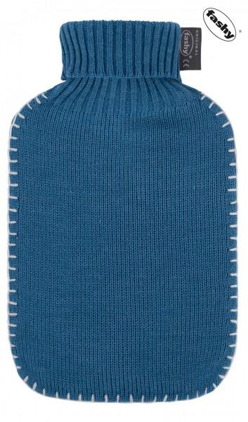 fashy Wärmflasche mit Strickbezug dunkelblau