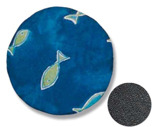 Rapssamenkissen Rund Motiv: Fische Blau ca. Ø 19cm