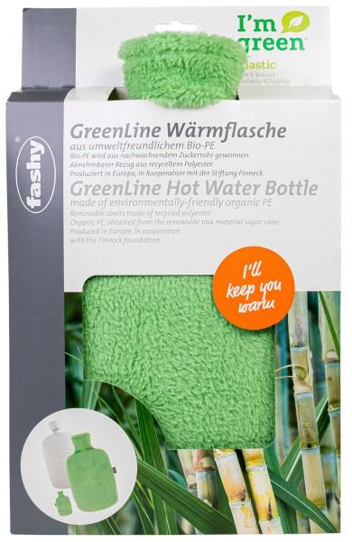 bio Wärmflasche grün