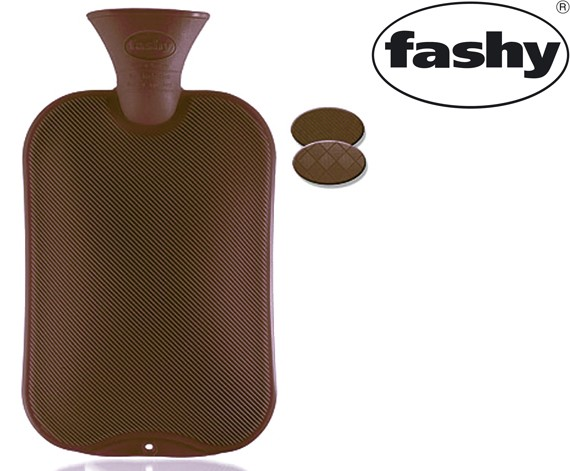Wärmflasche 2.0l Halblamelle braun 6442