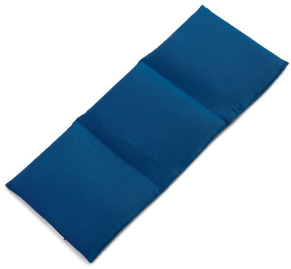 Bio Stoff dunkelblau Leinsamenkissen