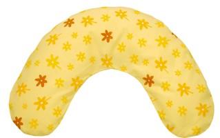 Bezug für Nackenkissen 100x21cm (41) Blümchen gelb