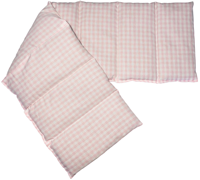 Dinkel Wärmekissen rosa-weiß
