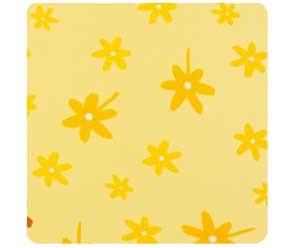 -> Bezug für das Asymmetrische 180x43cm (41) Blümchen gelb