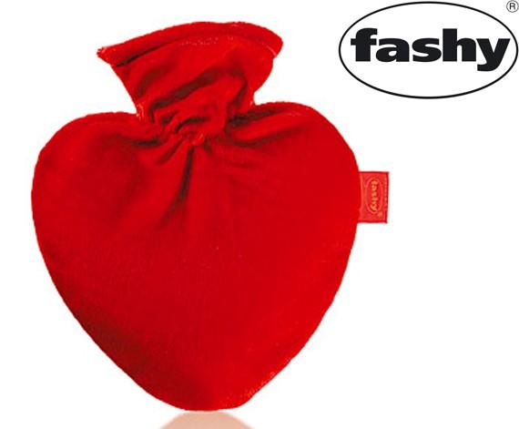 Wärmflasche Herz mit Bezug 0.7l 6510