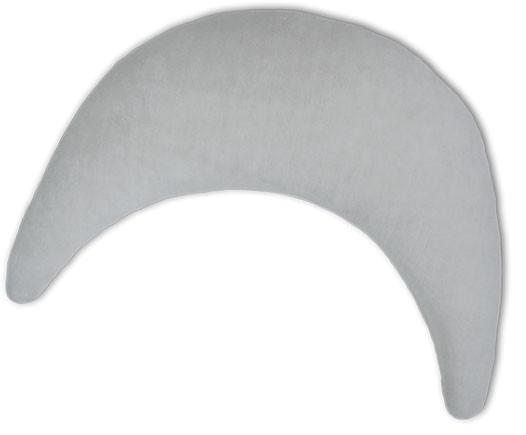 Plüschmond 140x27cm (72) Silbergrau