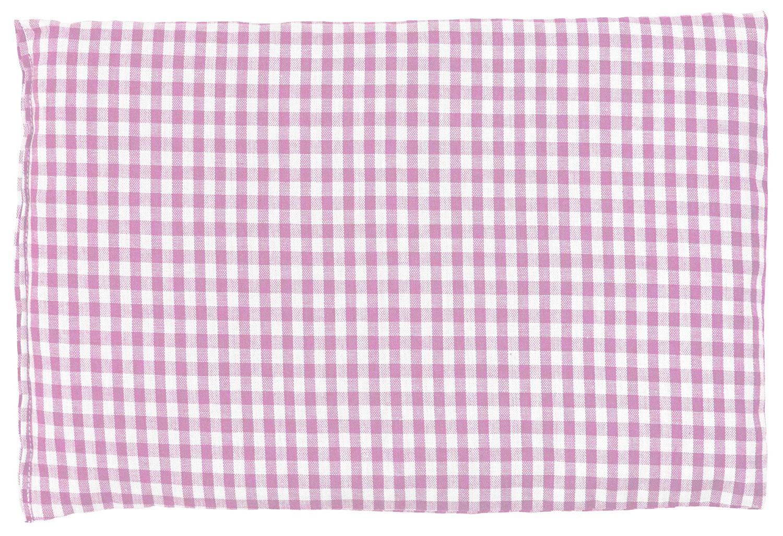 Bio Stoff Wärmekissen 30x20 rosa-weiß