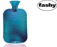 Wärmflasche 2.0l Doppellamelle  Wellen-Dekor  blau 6461