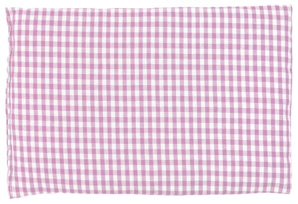 Körnerkissen 30x20cm, Bio-Stoff rosa-weiß