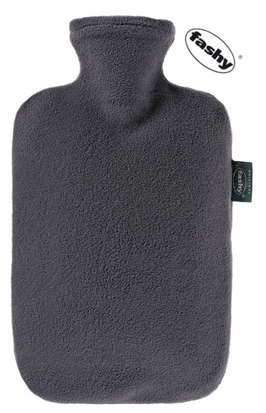 fashy Wärmflasche mit Fleece Bezug grau