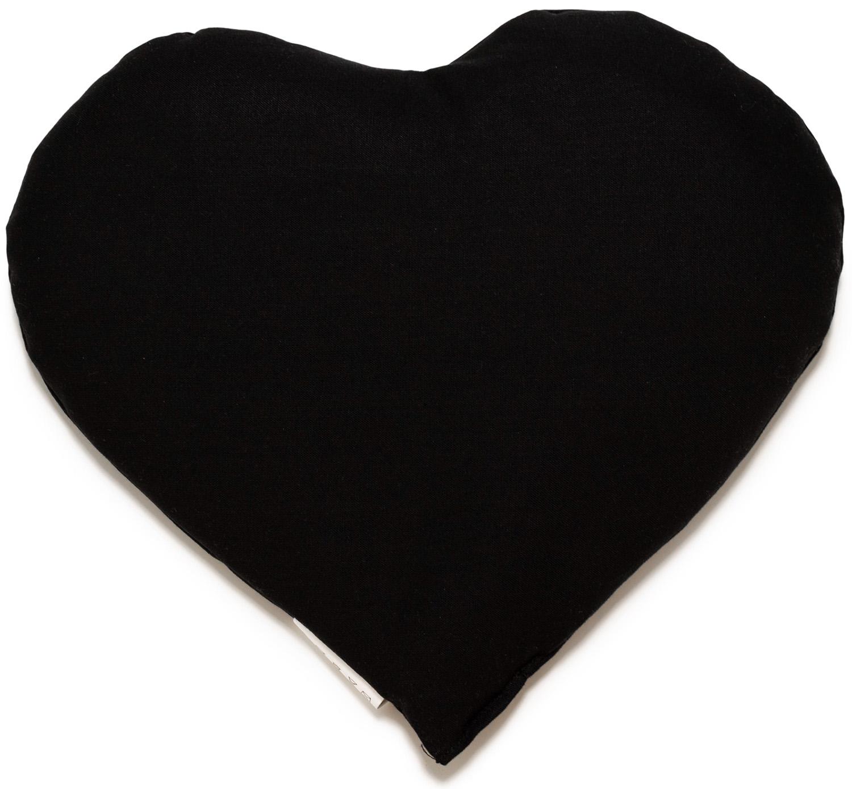 Kirschkernkissen Herz schwarz