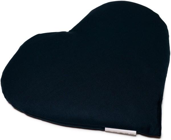 Körnerkissen Herz ca 30x25cm, dunkelblau