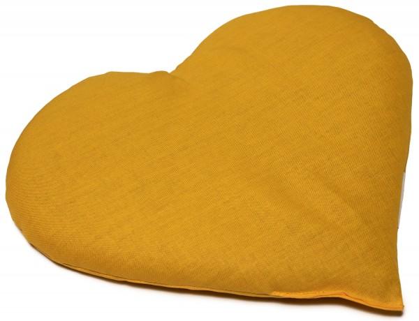 Körnerkissen Herz ca 30x25cm, mango