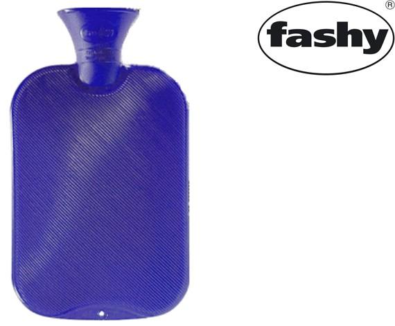 Wärmflasche 2.0l Halblamelle blau 6442