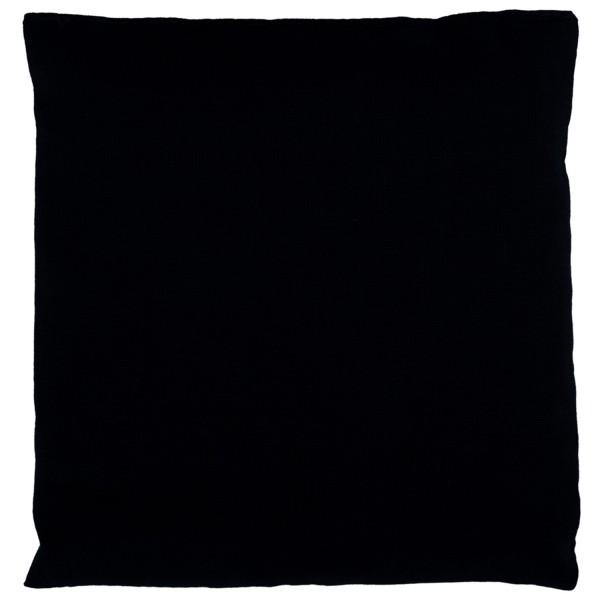 Körnerkissen schwarz 12x12